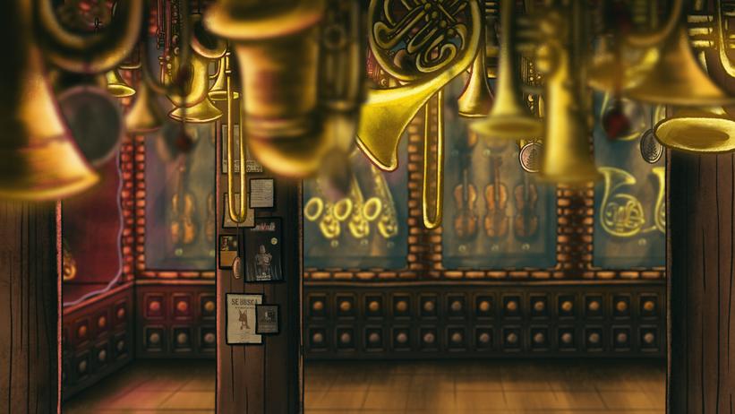 Instrument Shop - Interior