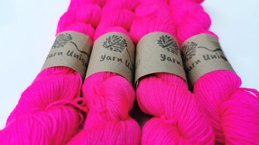 Pink Splash - UV Neon (4Ply/Sock)