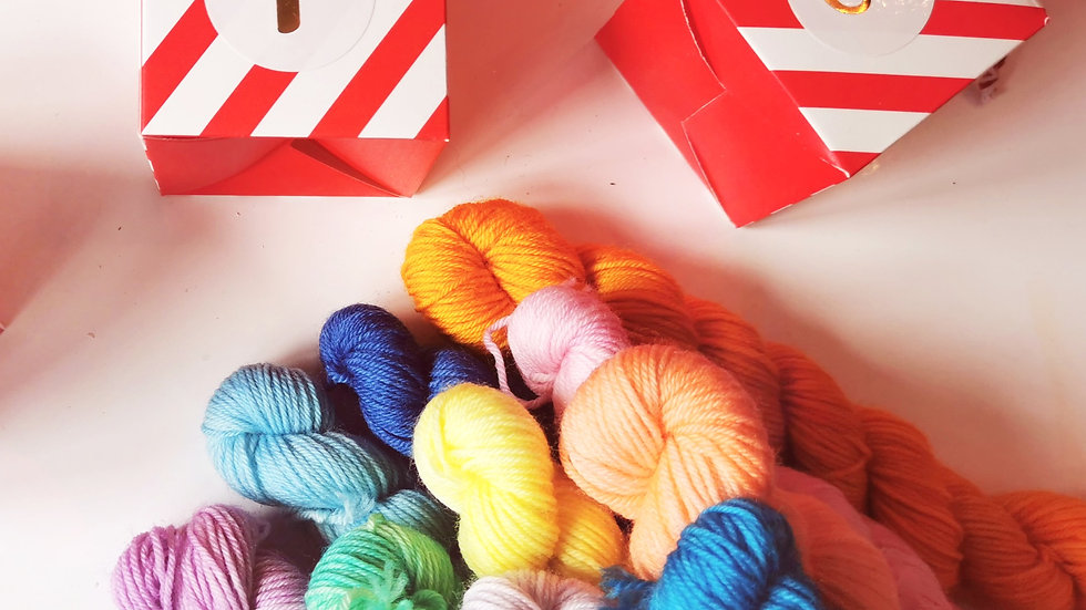 Pastel Sock Yarn Advent Calendar: 24 Day, 10g