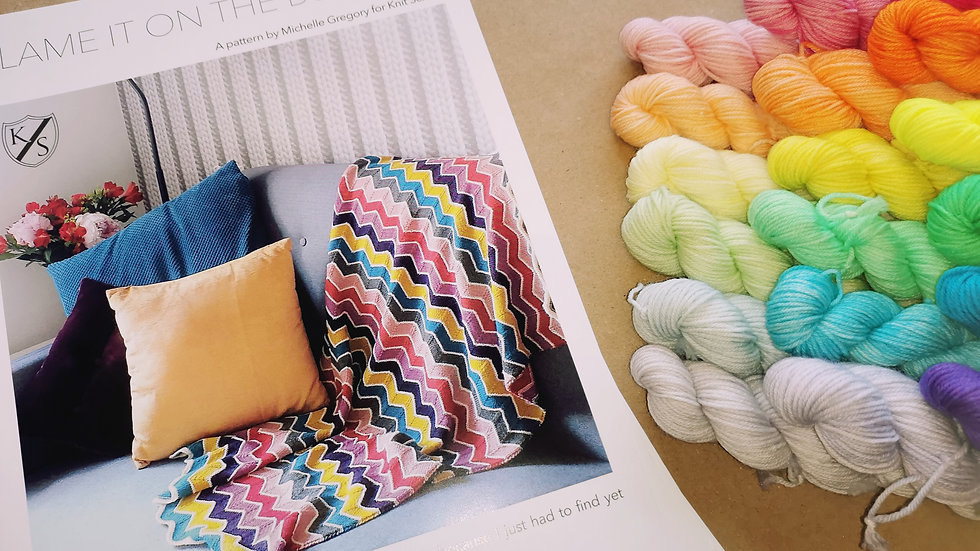 Rainbow Buggy Blanket Kit