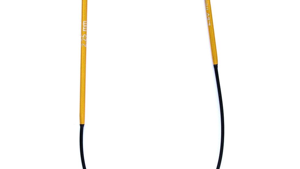 Knitpro Zing: 25cm Fixed Circular Knitting Needles
