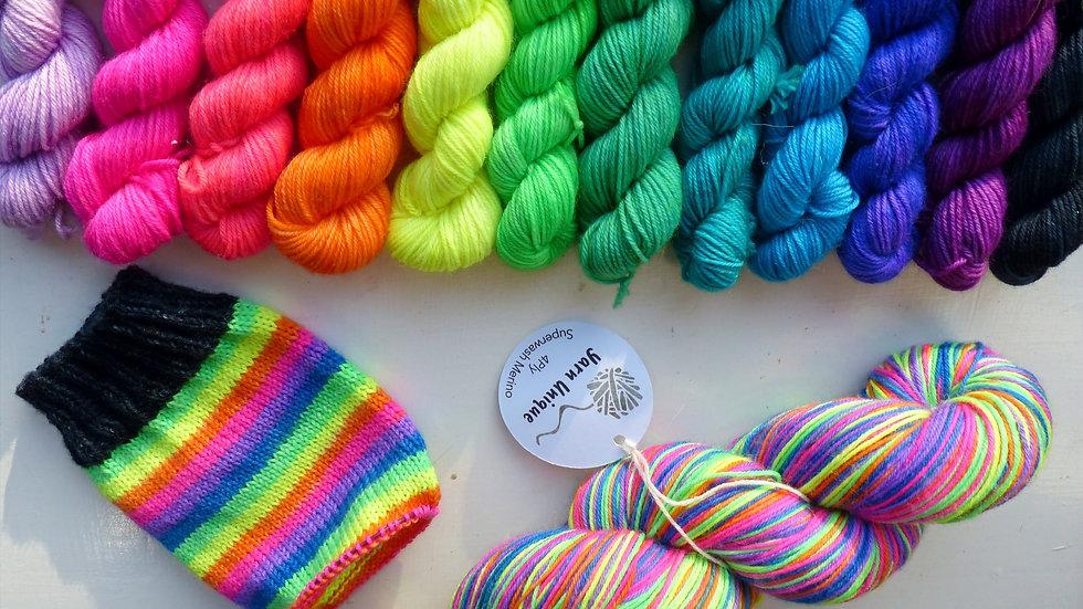 Bright for the Future: Self Striping sock yarn