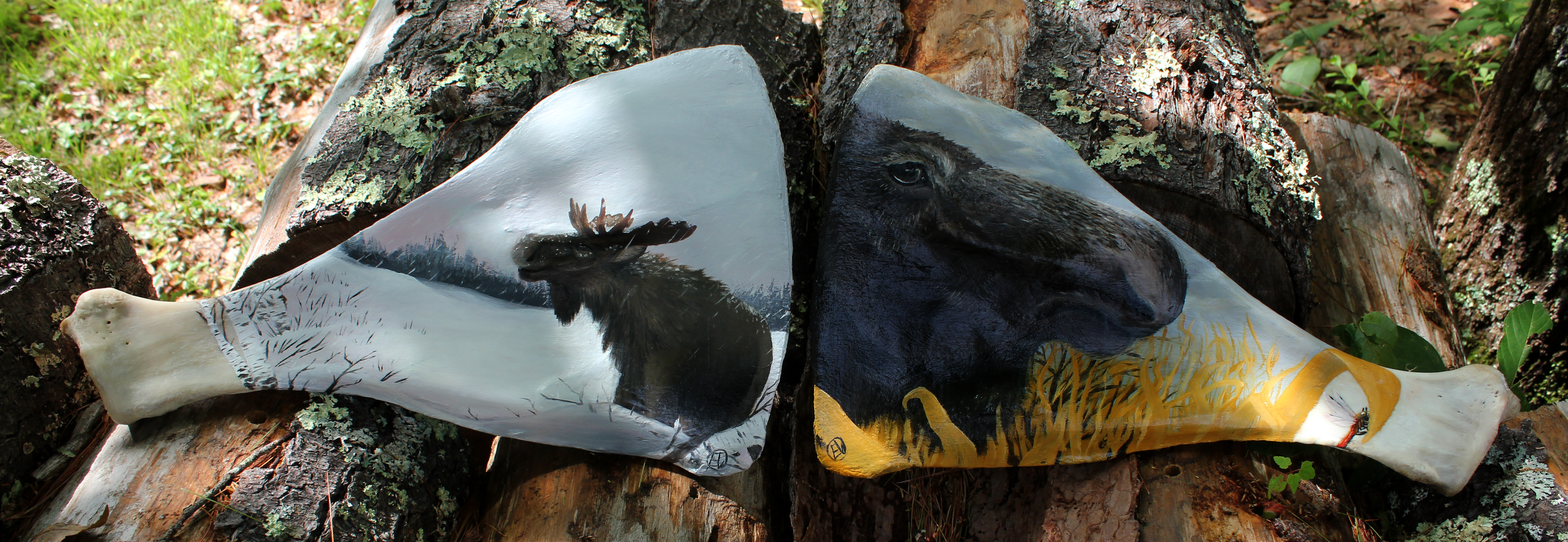 Moose Painting Shoulder Blades