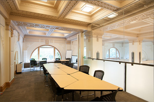 This is one of our many event room layouts. Host your next board meeting in thi beautiful historic building.