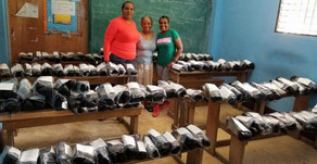 Shoe donations from a Sorority...
