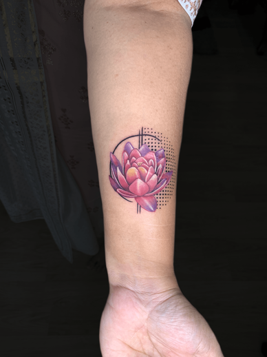 Floral Colour Tattoo