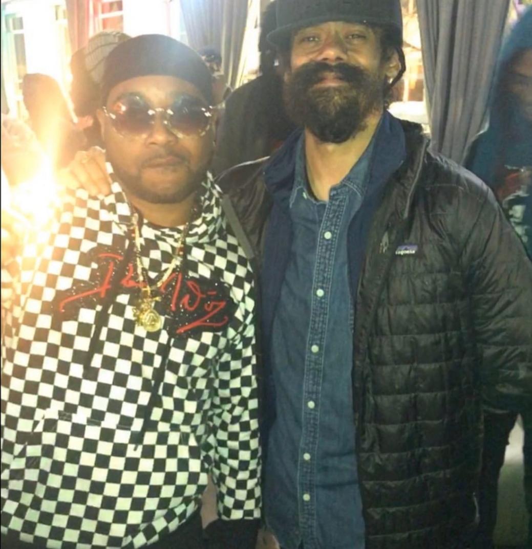 Rayvon alongside Damian Marley
