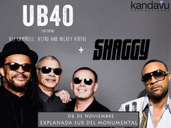 Shaggy, UB40, and Rayvon at Estacionamiento Sur De Explanada Del Monumental (06 Nov 15)