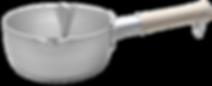 槌目加工增加器具手感外,亦令容積變大使傳熱加快,減小烹調時間及節能。