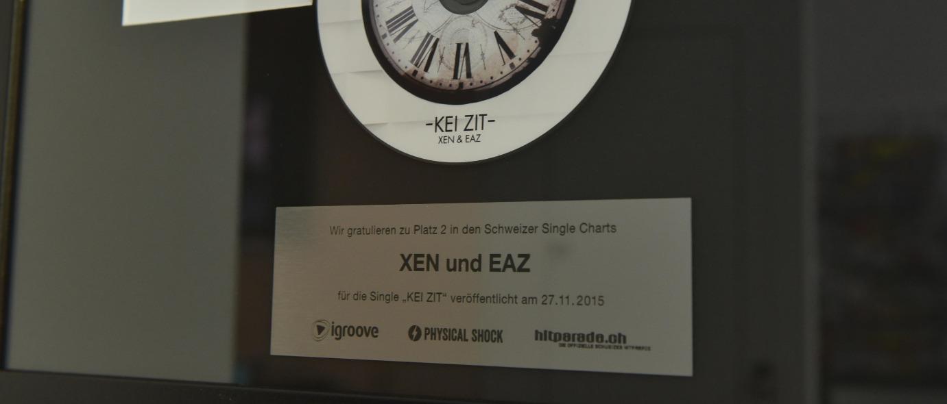 Plakette mit Lasergravur auf Award
