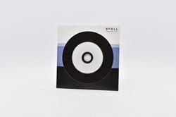 Vinyl-CD in Stecktasche mit Loch
