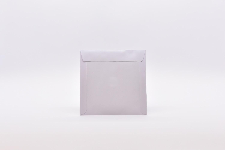 Papierfenstertasche Rückseite