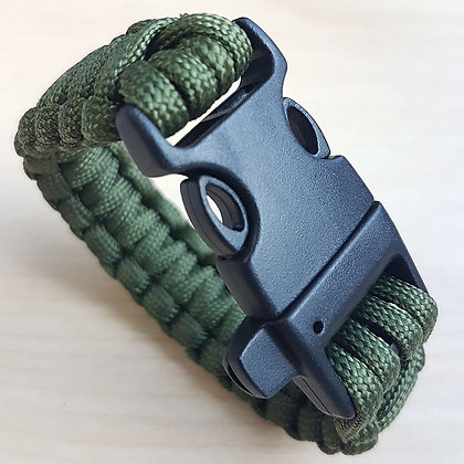 Green Paracord Bracelet Outdoor Camping