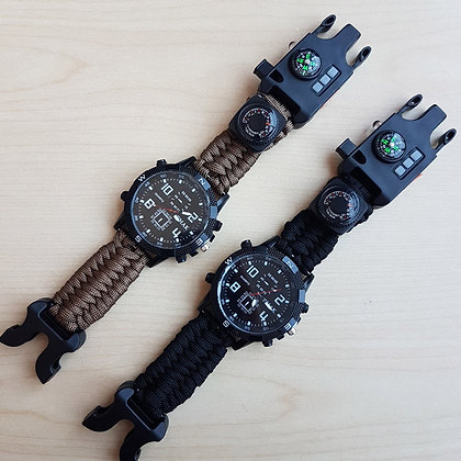 paracord watch, outdoor watch, watches singapore, emergency, multi functional watch