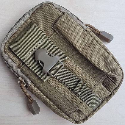 Green Pouch with MOLLE-Compatible Belt Loop