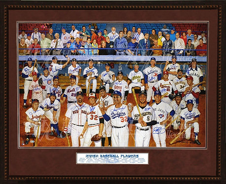 Jewish Baseball Player Original Autographed Artwork