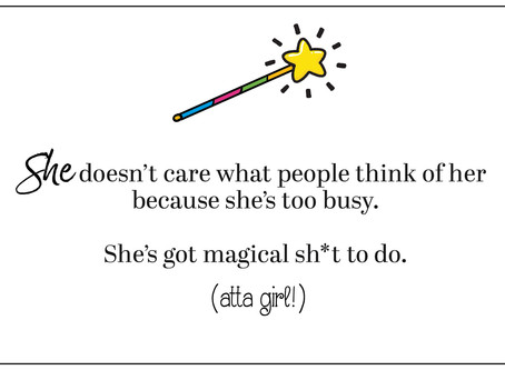 I've got a lot of magical sh*t to do.