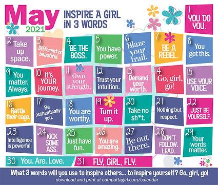 may 2021 calendar facebook inspire a gir