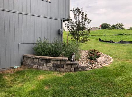 A small retaining wall