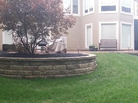 multi wall back yard landscape ideas ret