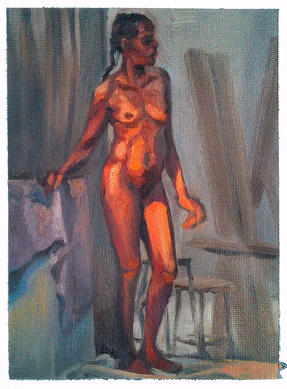 """""""Standing figure study"""" - oil painting"""