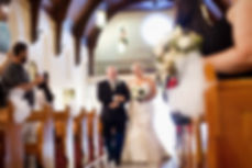 st Pauls church coburg, bride walking down aisle