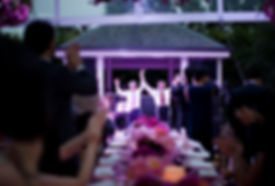 marquee in backyard wedding, Melbourne
