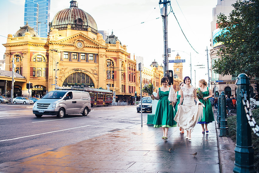 Federation Square wedding