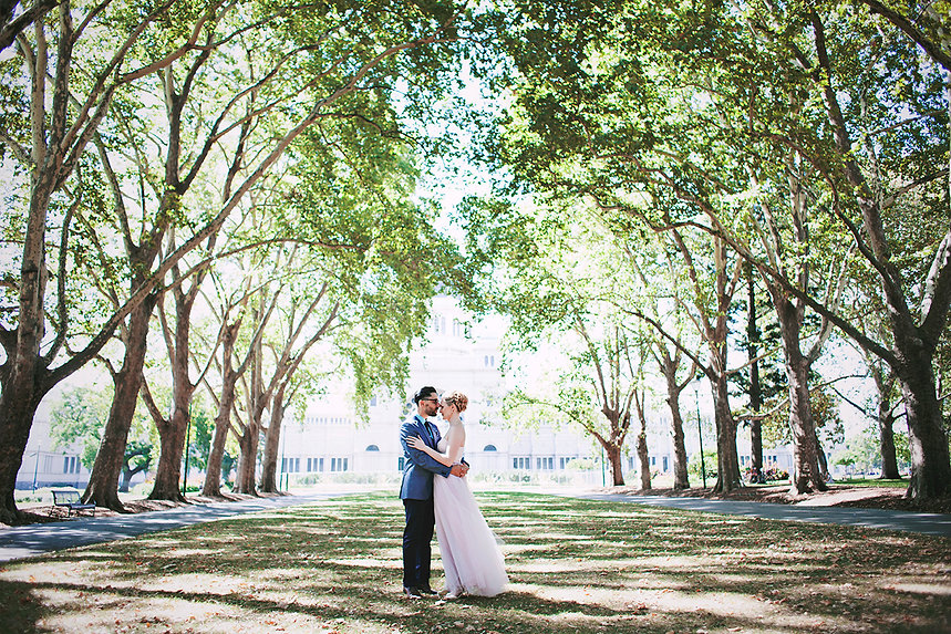 Bride in Blush wedding dress, Melbourne photographer