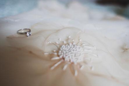 flower wedding dress with engagement ring, Melbourne wedding