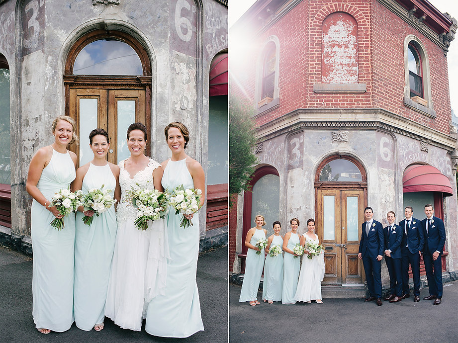 bride and groom at abbotsford convent wedding