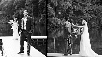 documentary photos of bride and groom seeing each other before the wedding ceremony in Melbourne