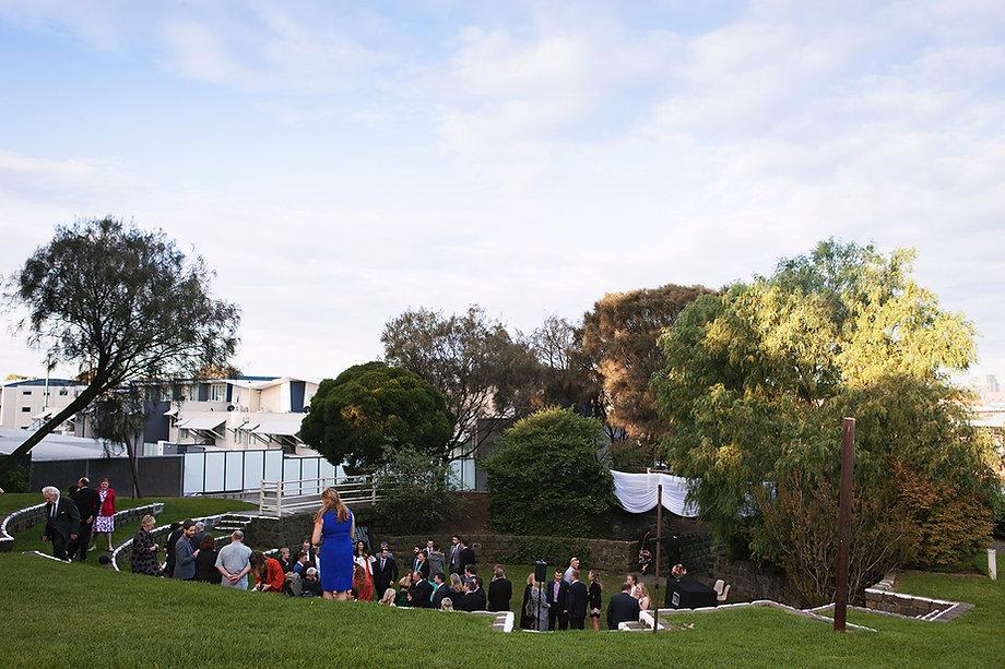 Melbourne groom's pocket square, blue suit