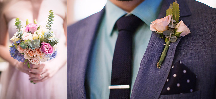 Melbourne groom's pocket square, blue suit