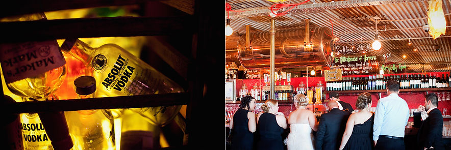 Melbourne Wedding photography at naked for satan bar in Fitzroy