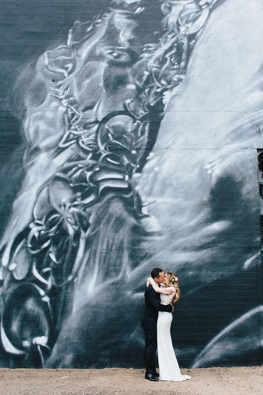 Wedding photos Melbourne graffiti