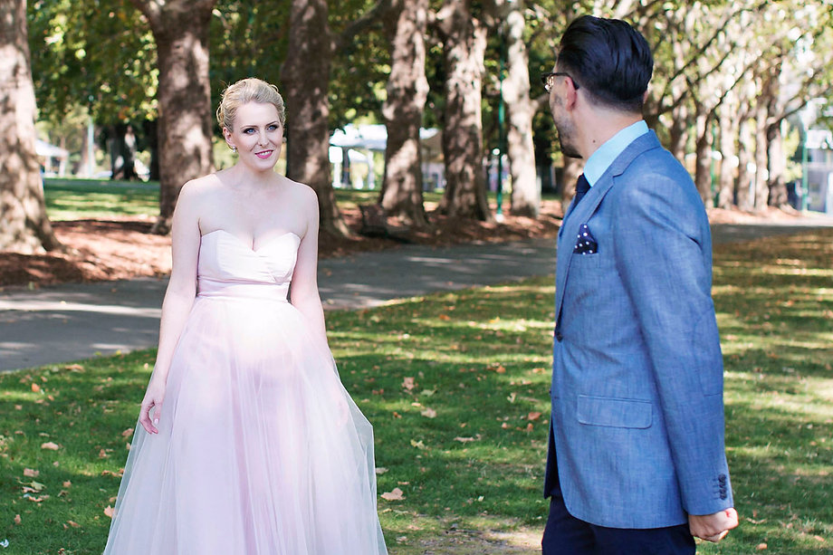 blush wedding dress - Melbourne