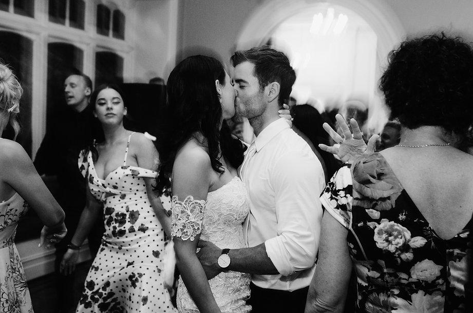 Dancing at geelong wedding reception
