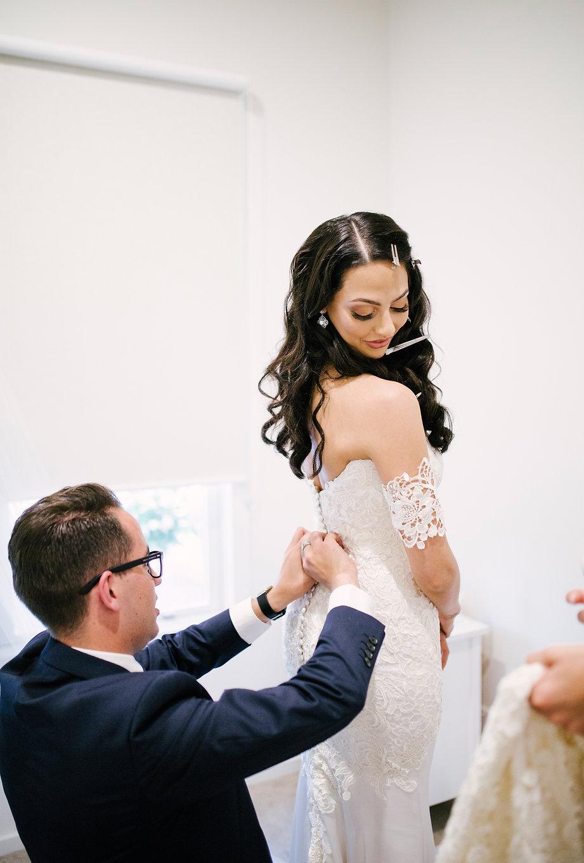 The Gables wedding, Lace wedding dress Melbourne