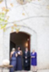 wedding ceremony at Stones