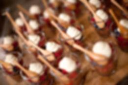 dessert table- berries and cream