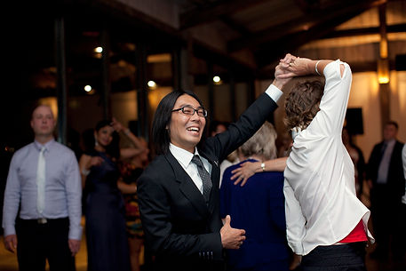 winery wedding dancing in Yarra Glen