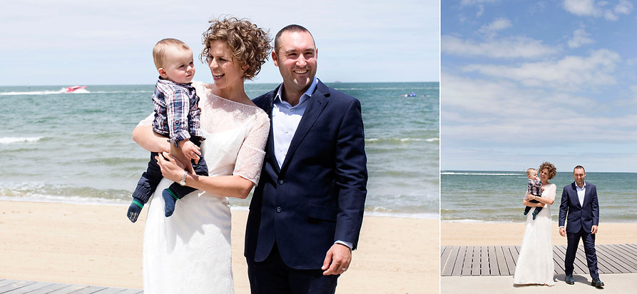 St Kilda ceremony with a ocean view