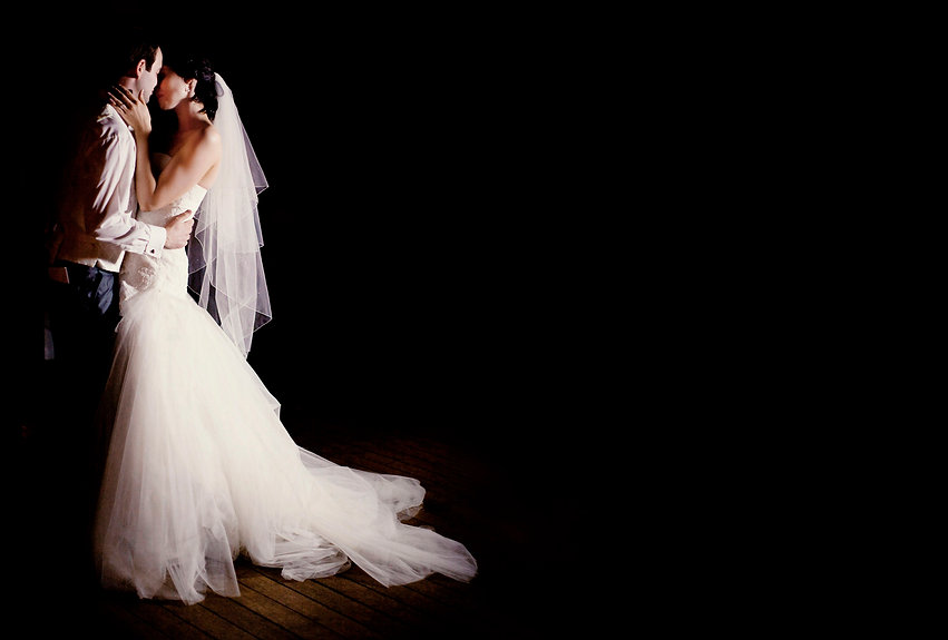 Bride and groom first dance at manor wedding