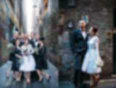 Melbourne laneway wedding