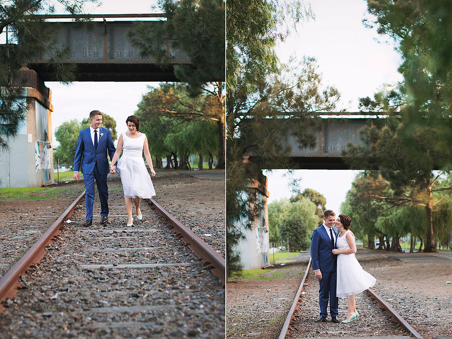Natural weddin photography in Melbourne, 50's style wedding