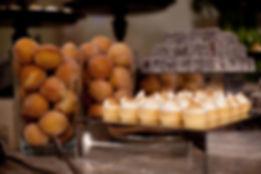 dessert table at Melbourne Wedding -lamingtons, doughnuts,