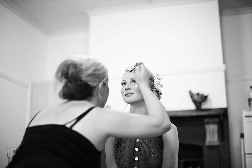 Bride at Lavandula Wedding - Daylesford