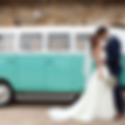outdoor wedding ceremony at Yarra Valley Winery with vintage kombi
