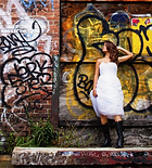 Bride photos down a graffiti laneway in melbourne